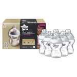 Tommee Tippee Closer to Nature Clear Bottles, 260 ml, Pack of 6