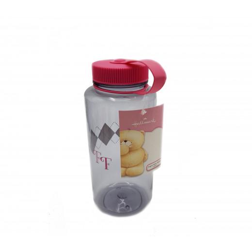 Hallmark Argyle Water Bottle, White and Black