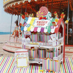 Street Stalls Multicolored Retro 2 Tier Sweet Shop Stand Great For Parties