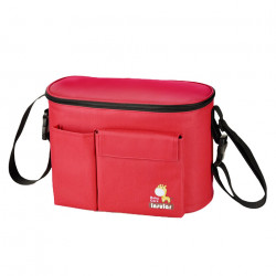 Insular Red Lunch Bag