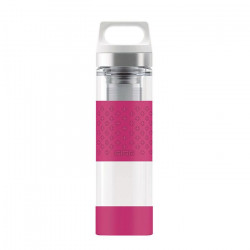 SIGG Thermo Flask Hot & Cold Glass Berry Bottle 0.4 L