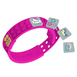 Pixie Crew Pixel Bracelet Dark Pink 65-piece