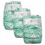 Pure Born - Organic Nappy Size 4, Palms Print, 7-12 Kg, 24 Nappies