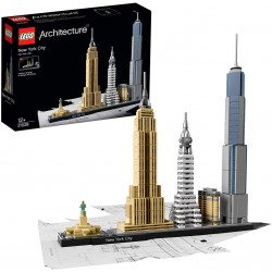 LEGO Architecture New York City Model Building Set, Skyline Collection with 4 Buildings and Minature Statue of Liberty