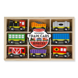 Melissa & Doug Wooden Train Cars