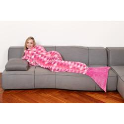 Kanguru Sirena Lilla Blanket Blanket Fleece mermaid Pink