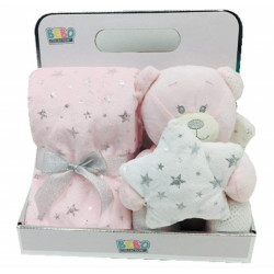 NOVA Blanket With Toys - Angle 75x75CM - Pink