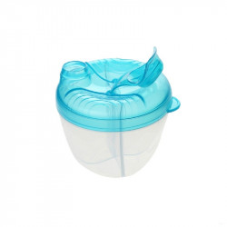 Potato Portable Four Compartment Milk Powder Box, Blue