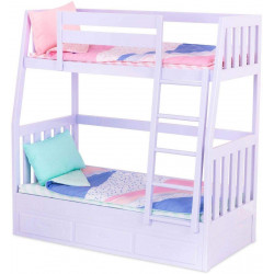 Our Generation Bunk Beds for 18 Dolls Lilac Purple Dream Bunks