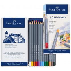 Faber-Castell Watercolor Goldfaber Aqua tin of 12