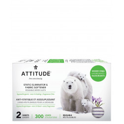 ATTITUDE Static Eliminator Fabric Softener 2 sheets