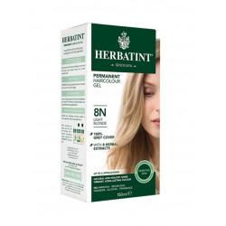 Herbatint Permanent Herbal Hair Colour Gel, 8N Light Blonde, 150 ml