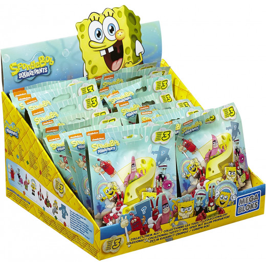 Mega Bloks Sponge-bob Square-pants Series 3 Mystery Pack Mini Figures 24  X1 Pack - Assortment - Random Selection