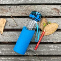 زجاجة زرقاء زجاجية من أوير , 450 مل