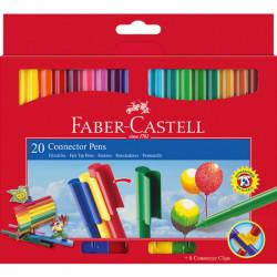 قلم موصل مع غطاء من فابر كاسل  20 لون
