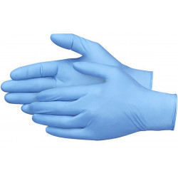 Leaders Blue Nitrile Meduim Gloves, 100 gloves