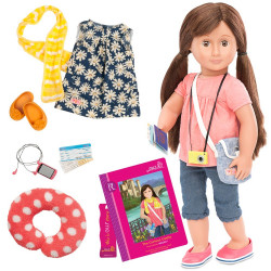 Our Generation 18-inch Reese Doll with Book