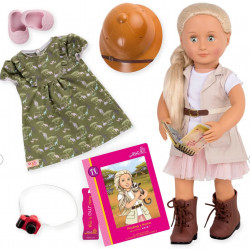 Our Generation DELUXE Safari Doll with a book of 46 centimeters