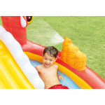 Intex Happy Dino Outdoor Inflatable Kiddie Pool Play Center with Slide