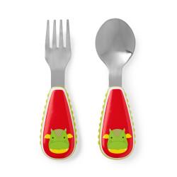 Skip Hop Toddler Utensils, Fork and Spoon Set, Dillon Dragon