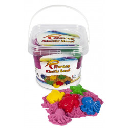 Heroes Bucket Kinetic Sand + Mold Gift 300g