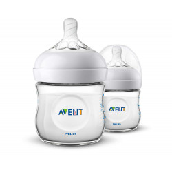 Philips Avent Natural Bottle 2 Pack, 125 ml