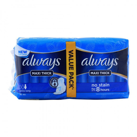 Always - Maxi Thick Extra Long 16 Pads