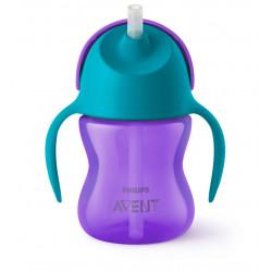 Philips Avent Straw Cups 200 ml, Purple