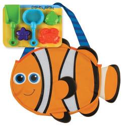 حقيبة يد  للبحر مع مجموعة اللعب الرملية ، سمكة المهرج من ستيفن جوزيف