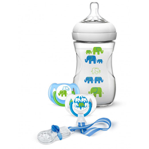 Philips Avent Elephant Design Gift Set, Boy