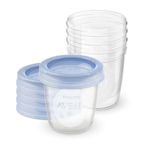 كوب تخزين حليب الثدي من فيليبس افينت ، 180 مل ، 5 قطع