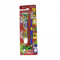 Kodomo 2 in 1 Zig Zag Brush and Toothpaste with Free Small Gift, Blue