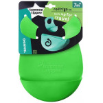 Tommee Tippee Roll 'n' Go Bib Rolls Up for Travel 7m+, Green