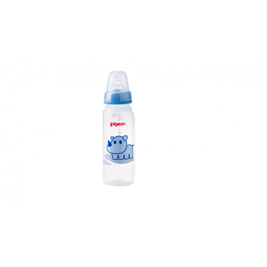 Pigeon Decorated Bottle - (Slim Neck) 240ml 1PC - Blue