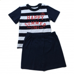 Boy Navy Blue Double Suit, 2-3 years