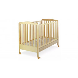 Italbaby Flash Natural Wood Cot Bed, Ivory