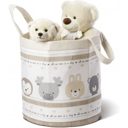 Italbaby Funny Friends Multicolor  Round Toy Basket