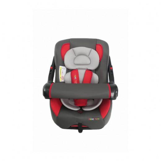 كرسي السيارة للأطفال من هوم تويز مع مسند ذراع قابل للتعديل، أحمر