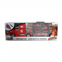 شاحنة حمل سيارات الإطفائية مع إشارات المرور