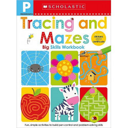 Scholastic Early Learners: Pre-K Big Skills Workbook: Tracing and Mazes, 48 Pages