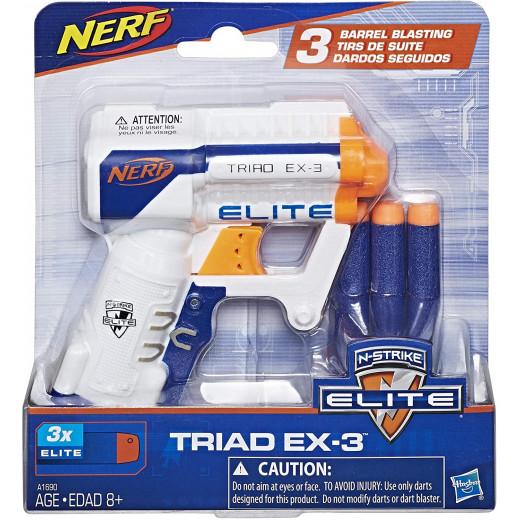 Nerf  N-Strike Elite Triad EX-3 Blaster, White