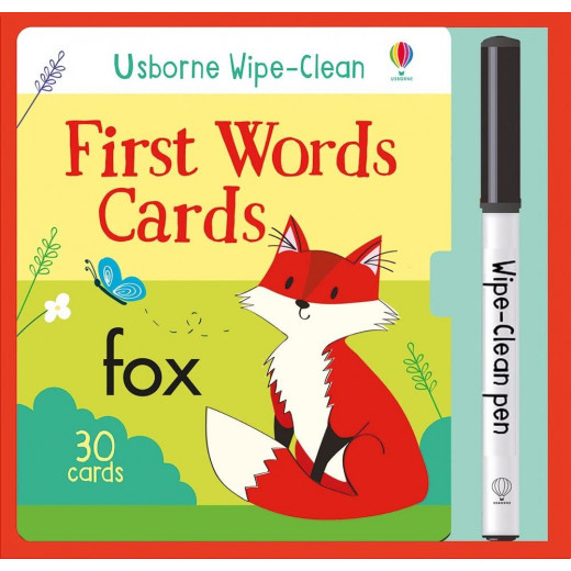 Wipe-Clean First Words Cards, 30 pages