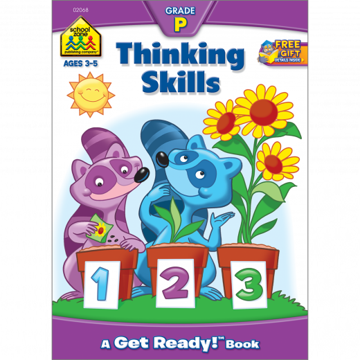 School Zone Thinking Skills Preschool Workbook, 32 pages