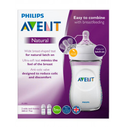Philips Avent Natural Feeding Bottle 260ml, Pack of 2