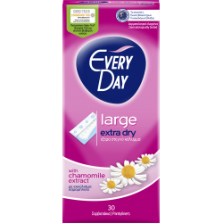 EveryDay Extra Dry Pads Large, 30 pads