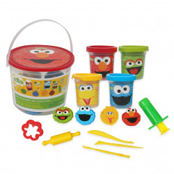 Sesame Street - 14pc Dough Bucket Set