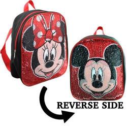 Mickey & Minnie Mini Backpack with Reversible Sequins, 30.5 cm