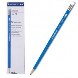 Staedtler Norica Eraser Tip Graphite Pencils HB 12 Pack