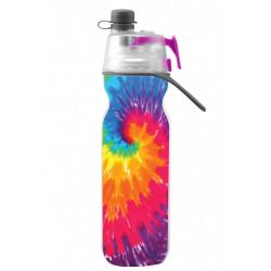 O2cool Elite Mist 'n Sip® Sport Water Bottle ,Tie Dye Purple, 590 Ml