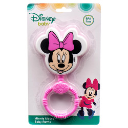 Minnie Head Shaped Baby Rattle, Pink